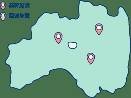 基幹施設の地図