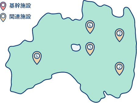 関連施設の地図